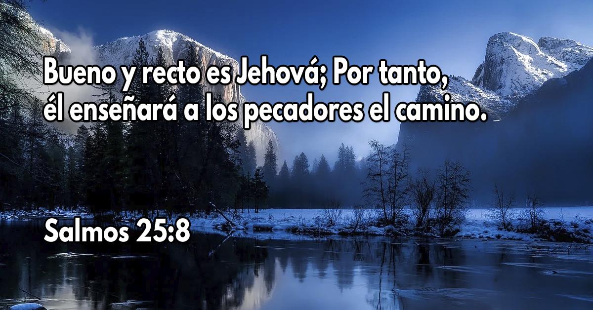 Bueno y recto es Jehová;Por tanto, él enseñará a los pecadores el camino