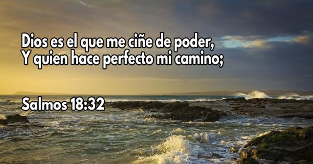 Dios es el que me ciñe de poder, Y quien hace perfecto mi camino