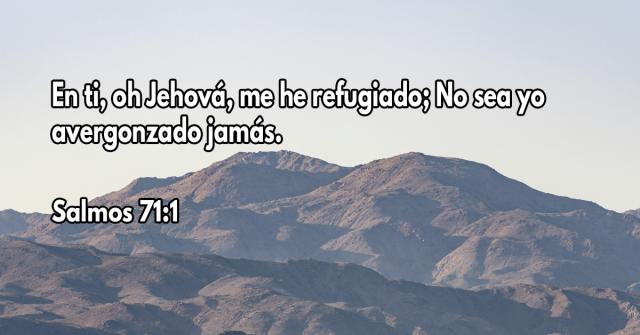 En ti, oh Jehová, me he refugiado; No sea yo avergonzado jamás