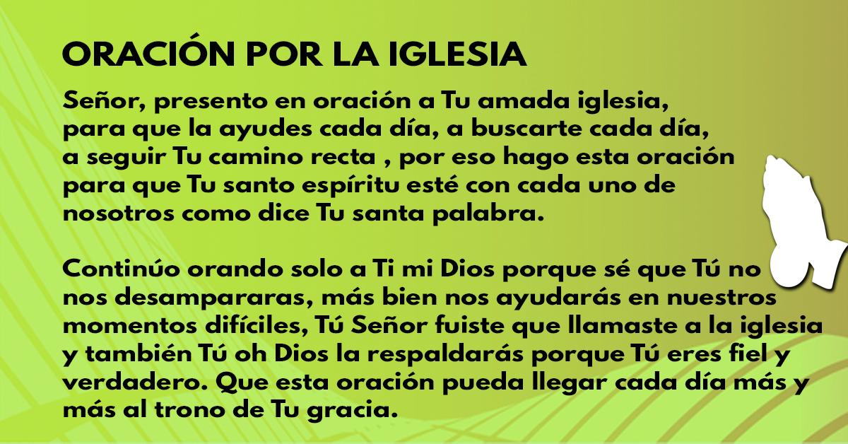 Oración por la iglesia