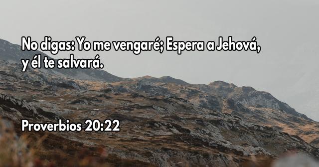 No digas- Yo me vengaré; Espera a Jehová, y él te salvará