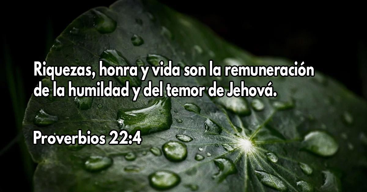 Esto recibe el que es humilde y teme al Señor