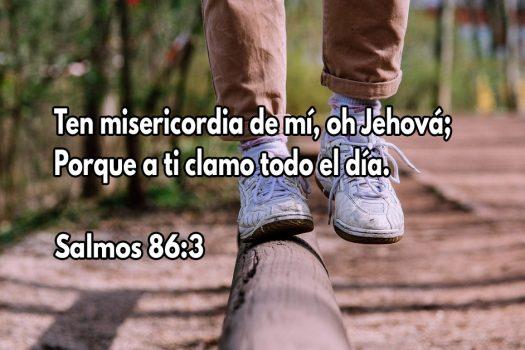 Ten misericordia de mí, oh Jehová; Porque a ti clamo todo el día